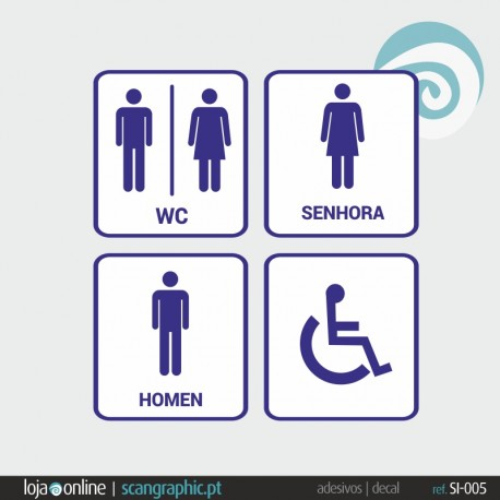 SINALETICA WC - ref: SI-005 IMP