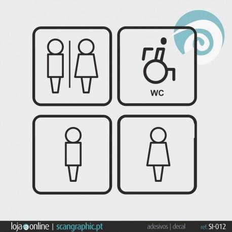 SINALETICA WC - ref: SI-012