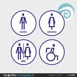 SINALETICA WC - ref: SI-009 IMP