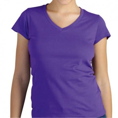 T-shirt Premium MULHER - Cores - GOLA V - 150Gr