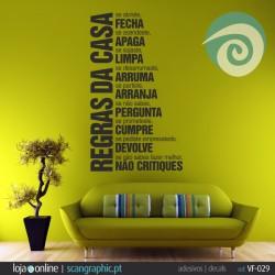 REGRAS DA CASA - ref: VF-029