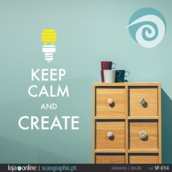 KEEP CALM AND CREATE - ref: VF-014