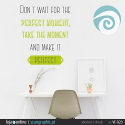 DONT WAIT FOR THE PERFECT MOMENT,... - ref: VF-020