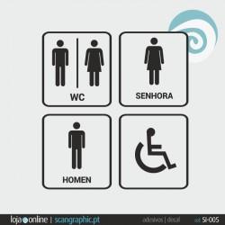 SINALETICA WC - ref: SI-001