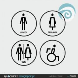 SINALETICA WC - ref: SI-009