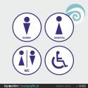 SINALETICA WC - ref: SI-001 IMP