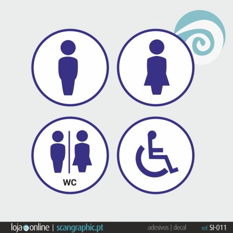 SINALETICA WC - ref: SI-011 IMP
