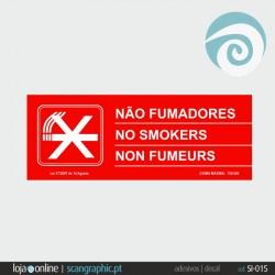 NÃO FUMADORES (2 dísticos) - ref: SI-015