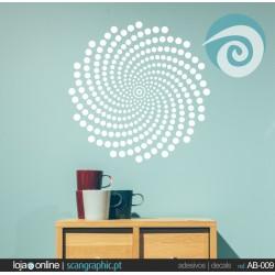 Ornamento circulos espiral - ref: AB-009