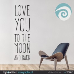 LOVE TOU TO THE MOON AND BACK - ref: VF-002